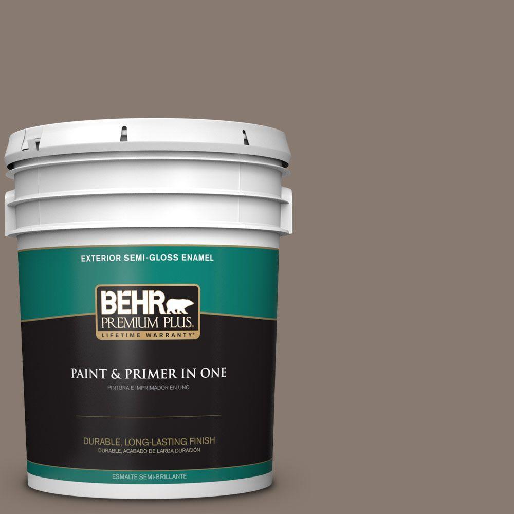 BEHR Premium Plus 5-gal. #ECC-15-1 Lost Summit Semi-Gloss Enamel Exterior Paint