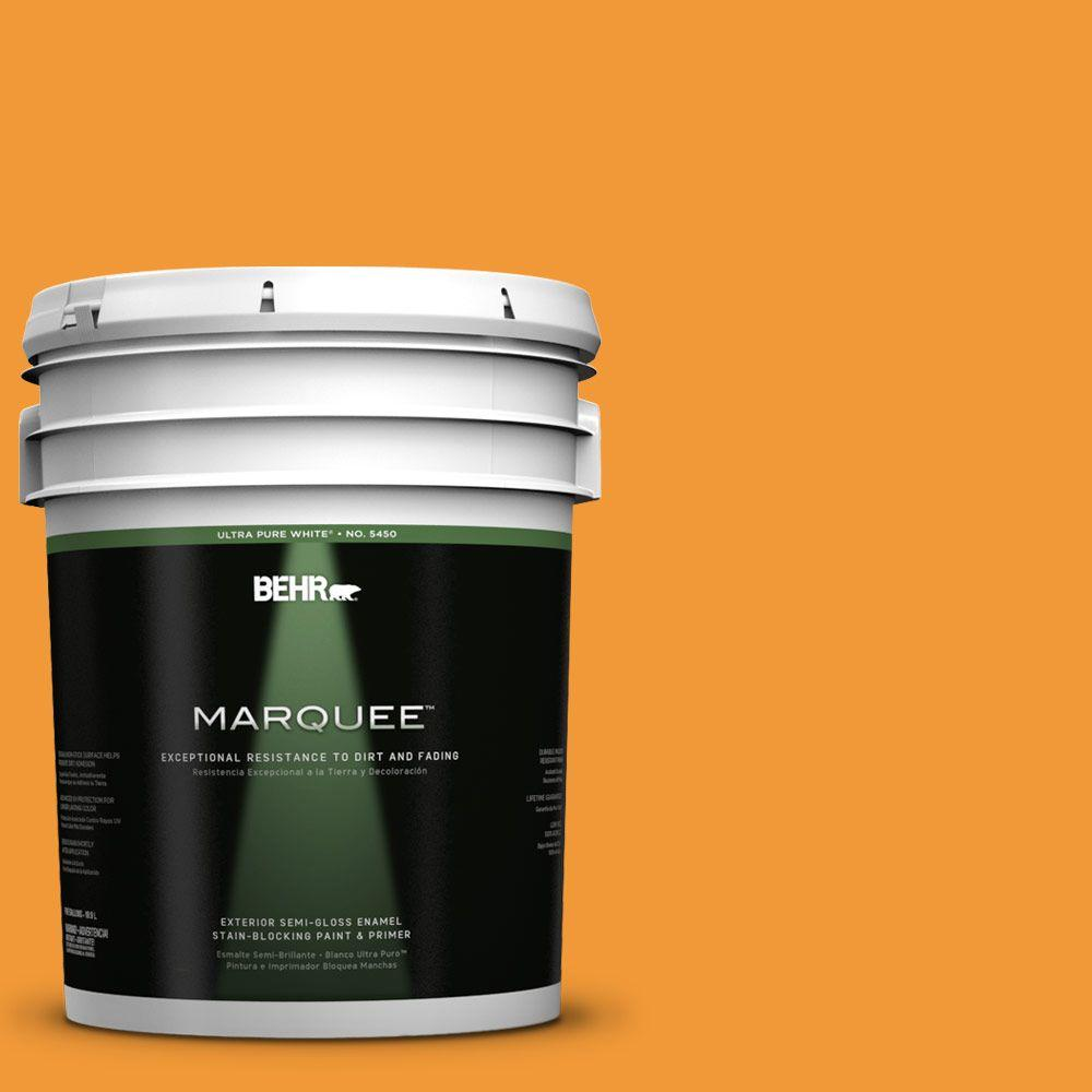 BEHR MARQUEE 5-gal. #280B-6 Amber Glow Semi-Gloss Enamel Exterior Paint