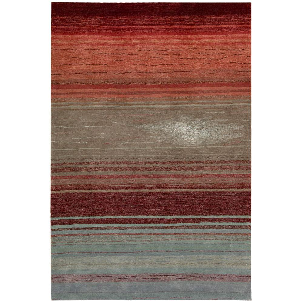 Nourison Tequila Sunrise Flame 3 ft. 6 in. x 5 ft. 6 in. Area Rug