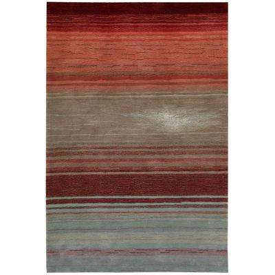 Tequila Sunrise Flame 4 ft. x 6 ft. Area Rug