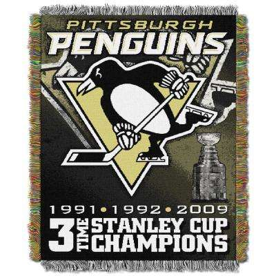 Penguins Multi Color Commemorative Tapestry Throw
