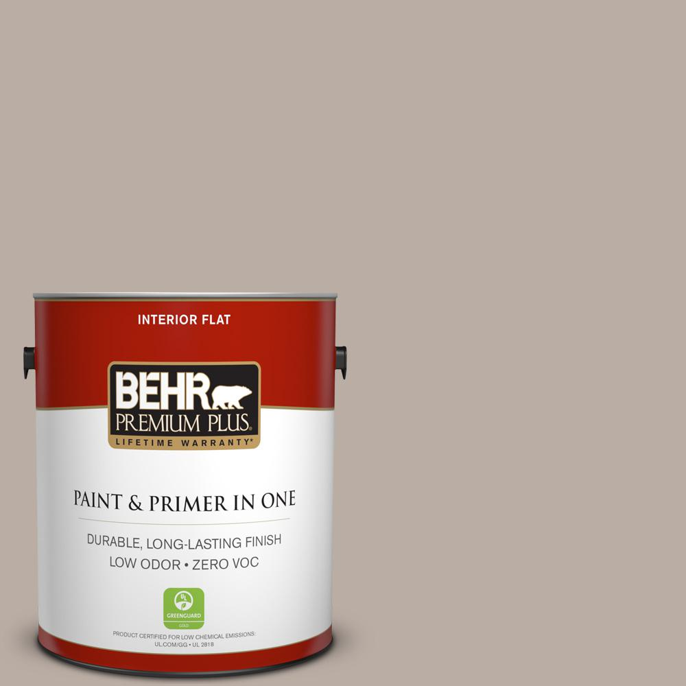 1 gal. #N200-3 Nightingale Gray Flat Zero VOC Interior Paint and