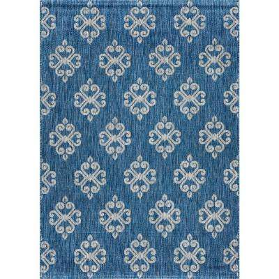 Veranda Indigo 7 ft. x 10 ft. Indoor/Outdoor Area Rug
