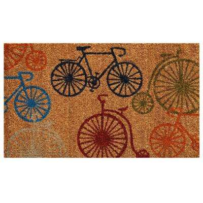 Bicycles Door Mat 17 in. x 29 in.