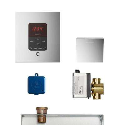 MS Butler Package with iTempo Pro Square Programmable Control for Steam Bath Generator in Polished Chrome
