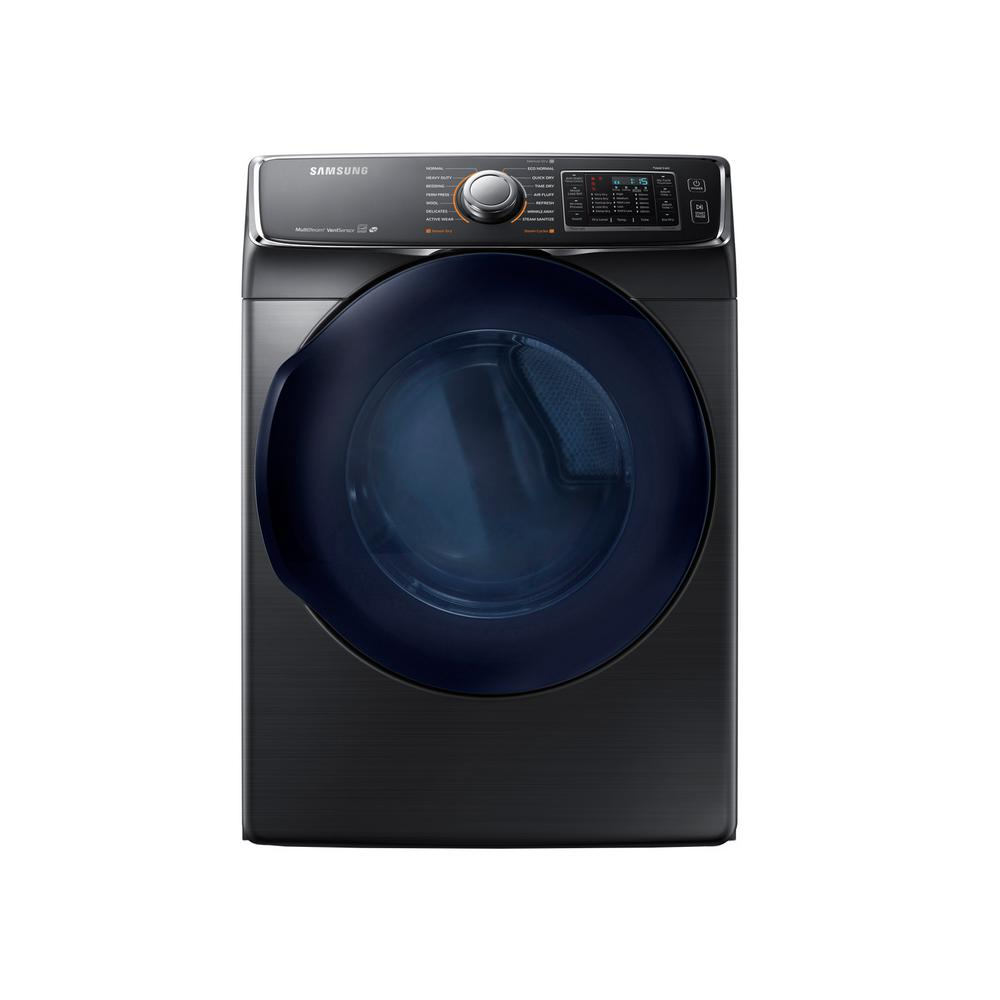 Samsung 7.5 cu. ft. Gas Dryer with Steam in Black Stainless, ENERGY STAR