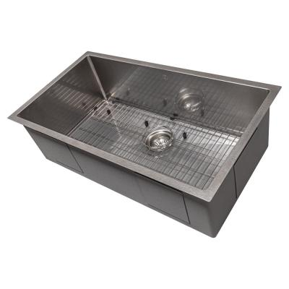 ZLINE 33 in. Meribel Undermount Single Bowl Sink in DuraSnow®Stainless Steel