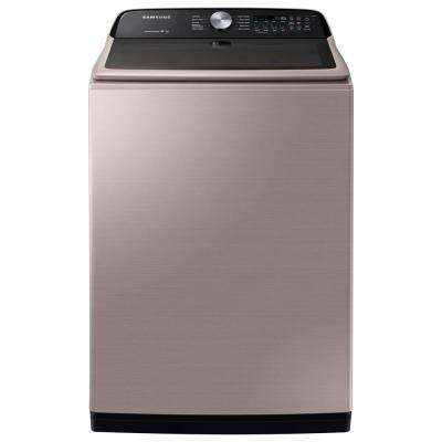 27 in. 5.0 cu. ft. High Efficiency Champagne Top Load Washing Machine with Active Wash Jet, ENERGY STAR