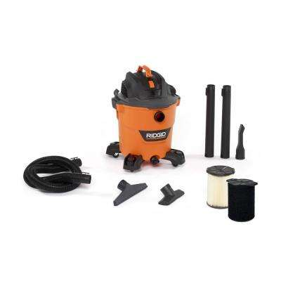12 Gal. 5.0-Peak HP NXT Wet/Dry Shop Vacuum with Filter, Hose, Accessories and Wet Application Filter