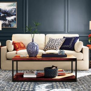 Remarkable Home Decorators Collection Addilyn Linen Jute Sofa Caraccident5 Cool Chair Designs And Ideas Caraccident5Info