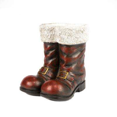 16 in. H Red Magnesium Santa  Boots
