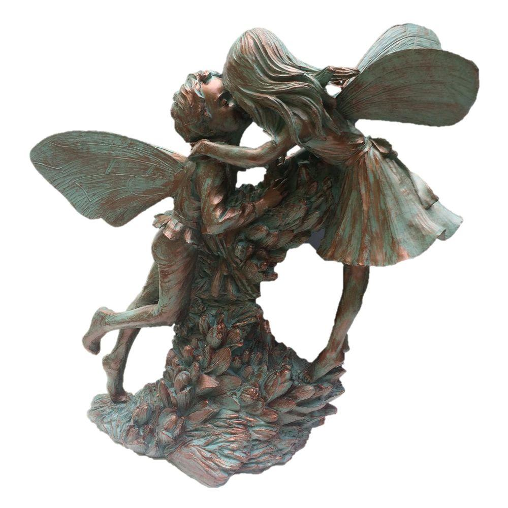 Fairy Henry And Elizabeth Bronze Patina Collectible Garden Statue