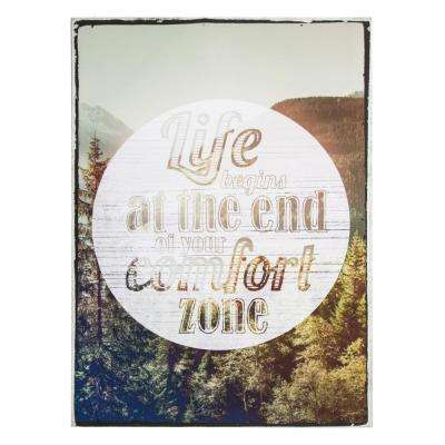 """28 in. x 20 in. """"Life Begins"""" Printed Canvas Wall Art"""