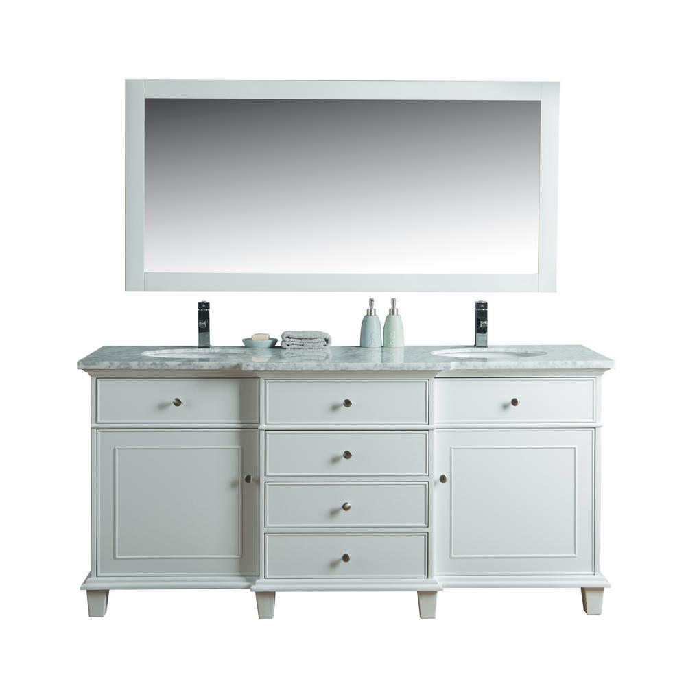 stufurhome Newport 36 in. W x 22 in. D Vanity in Gray with ...