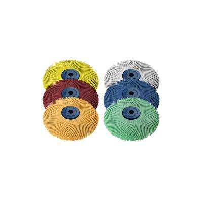 Sunburst 3 in  x 1/4 in  3-Ply Radial Discs Assortment Arbor Thermoplastic  Cleaning and Polishing Tool (6-Piece)