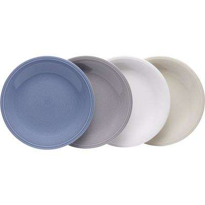 Color Loop Assorted Colors Salad Plate (Set of 4)
