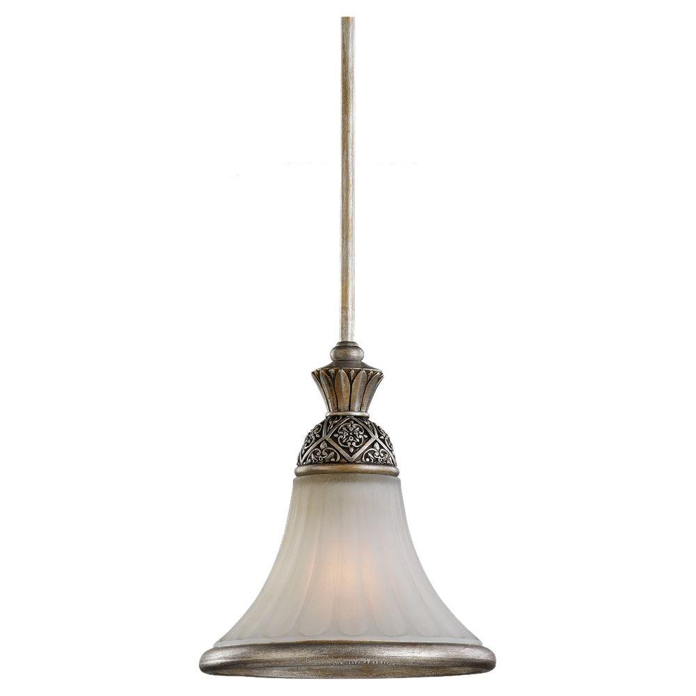 Sea Gull Lighting Highlands 1-Light Palladium Mini Pendant