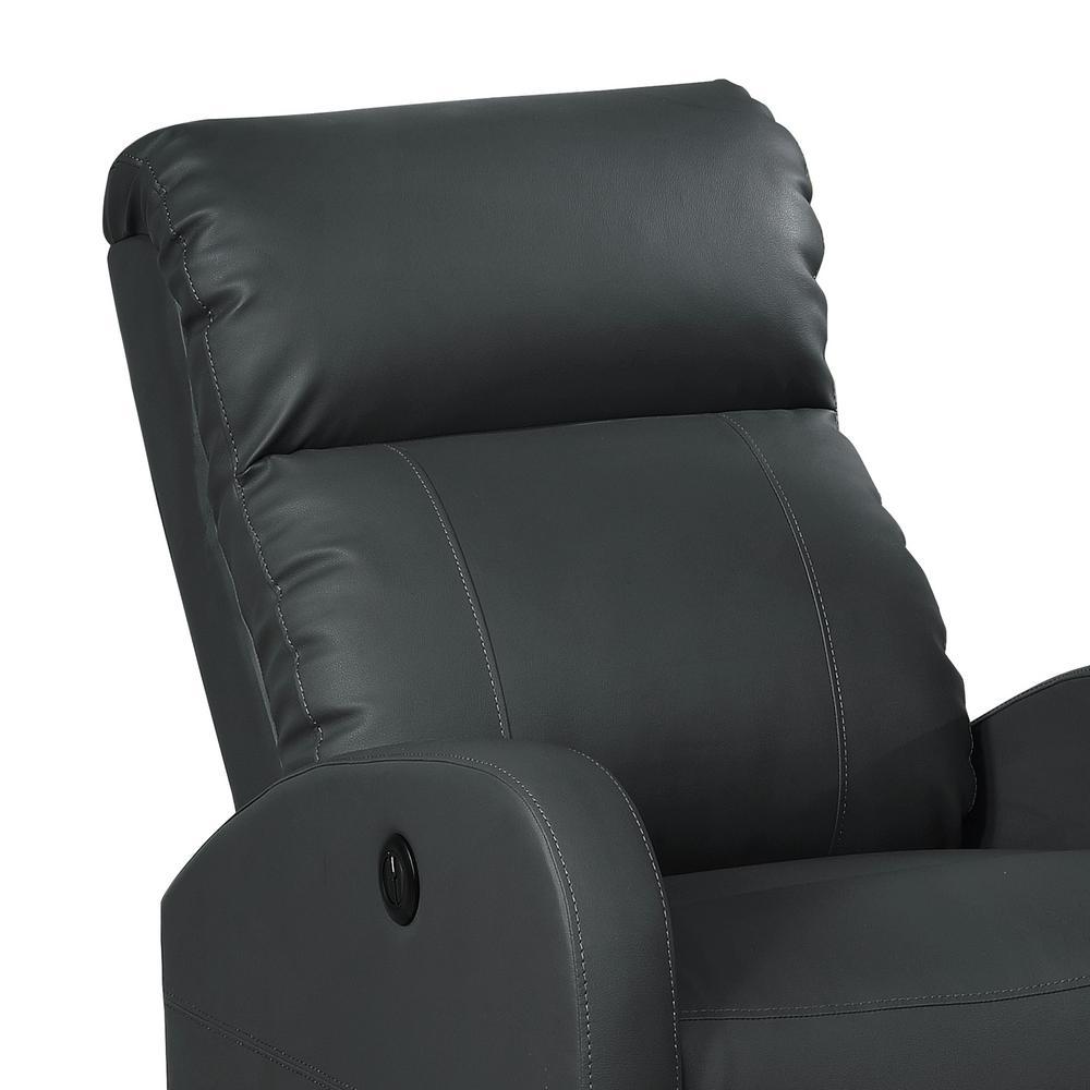 Fantastic Ac Pacific Black Sean Modern Leather Infused Small Power Machost Co Dining Chair Design Ideas Machostcouk