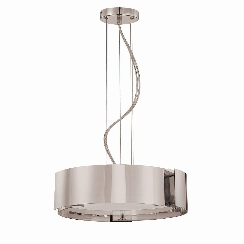 Home decorators collection 5 light satin nickel pendant with circular curved panels