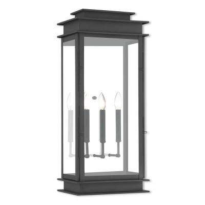 Princeton 3-Light Black Outdoor Wall Mount Lantern