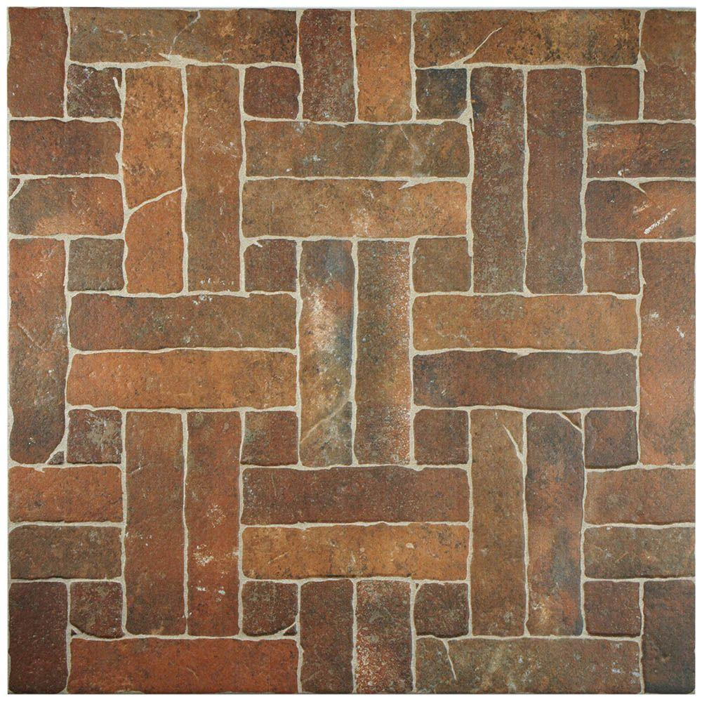 Merola Tile Viana Cotto 19-3/4 in. x 19-3/4 in. Porcelain Floor and Wall Tile (16.5 sq. ft. / case)