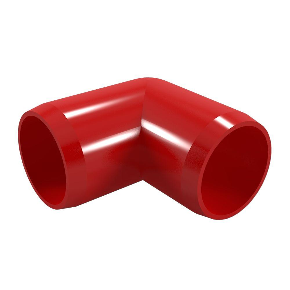 3/4 in. Furniture Grade PVC 90-Degree Elbow in Red (8-Pack)