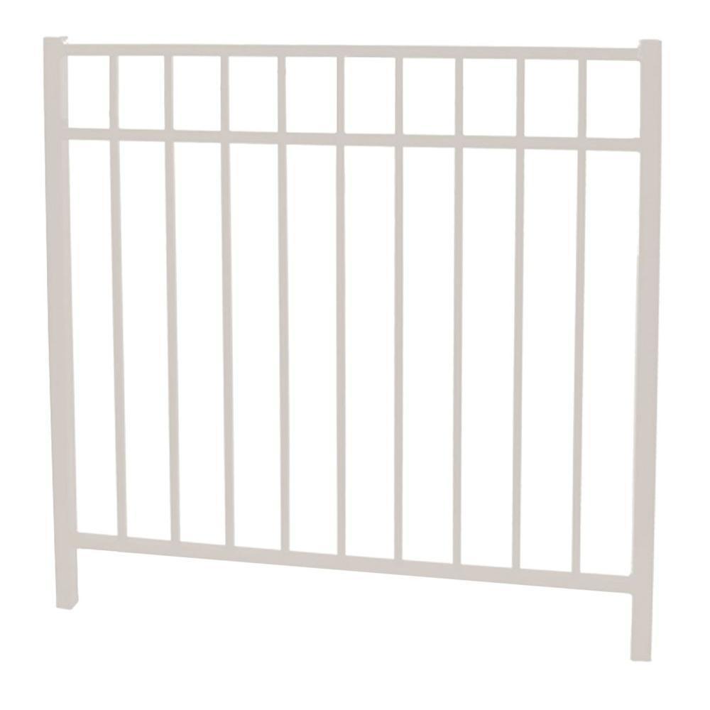Vinnings 4 ft. W x 4.5 ft. H White Aluminum Fence