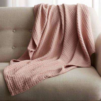 Rose Quartz Twin Organic Cotton Blanket Throw