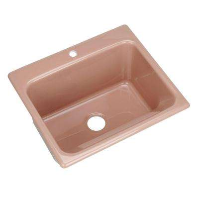 Kensington Drop-In Acrylic 25x22x12 in. Single Bowl Utility Sink in Wild Rose