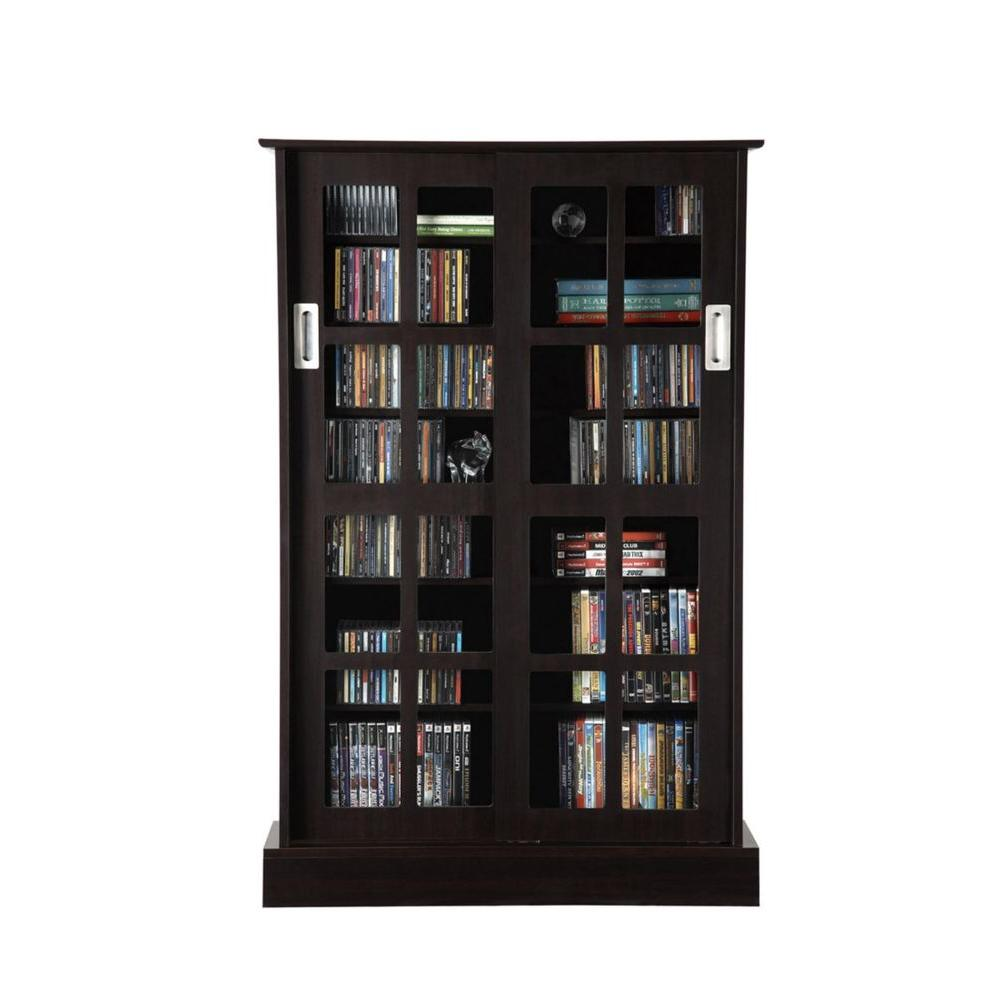 espresso media storage - Living Room Storage Furniture