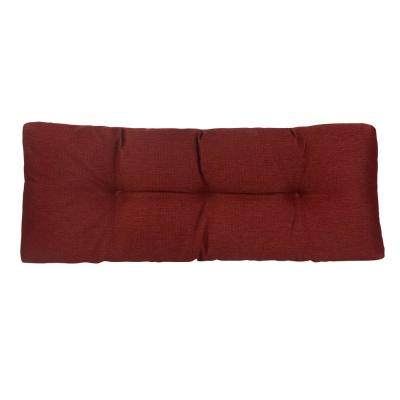 The Gripper Tufted 36 in. Omega Flame Universal Bench Cushion