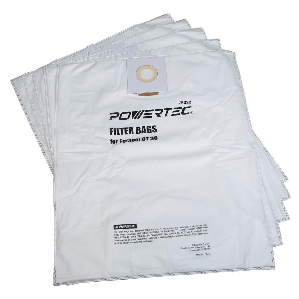 Filter Bag for Festool (36-Count, 5-Pack)