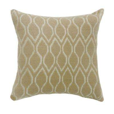 Mae 22 in. Contemporary Standard Throw Pillow in Beige