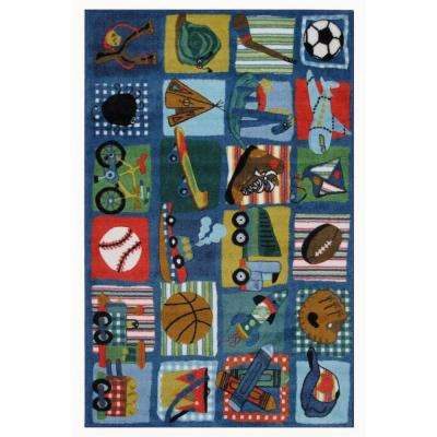 Supreme Funky Boys Quilt Multi Colored 3 ft. x 5 ft. Area Rug