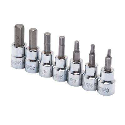 3/8 in. Drive Metric Hex Bit Socket Set (7-Piece)