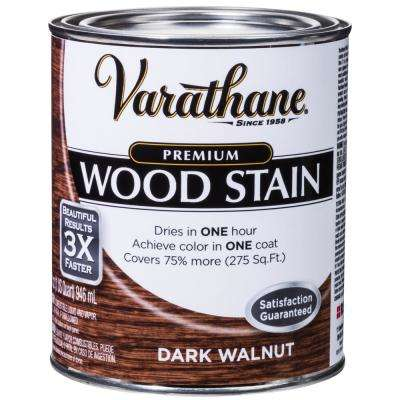 1 qt. Dark Walnut Premium Fast Dry Interior Wood Stain (2-Pack)