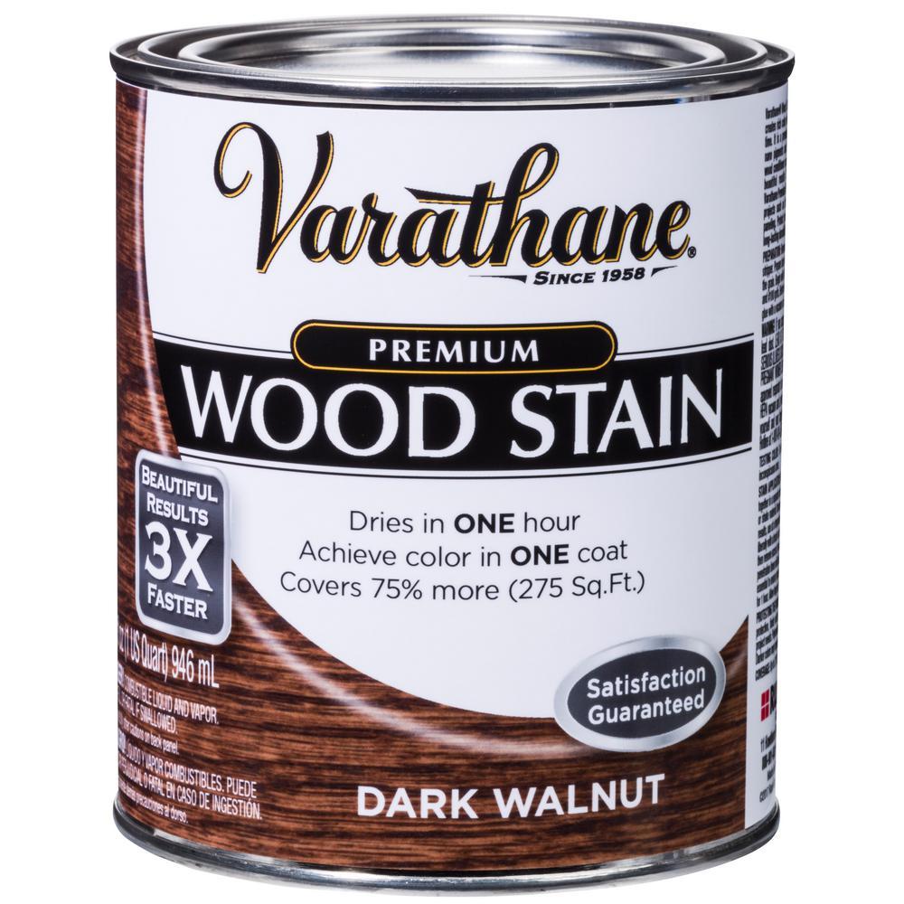 Varathane 1 qt. Dark Walnut Premium Fast Dry Interior Wood Stain (2-Pack)