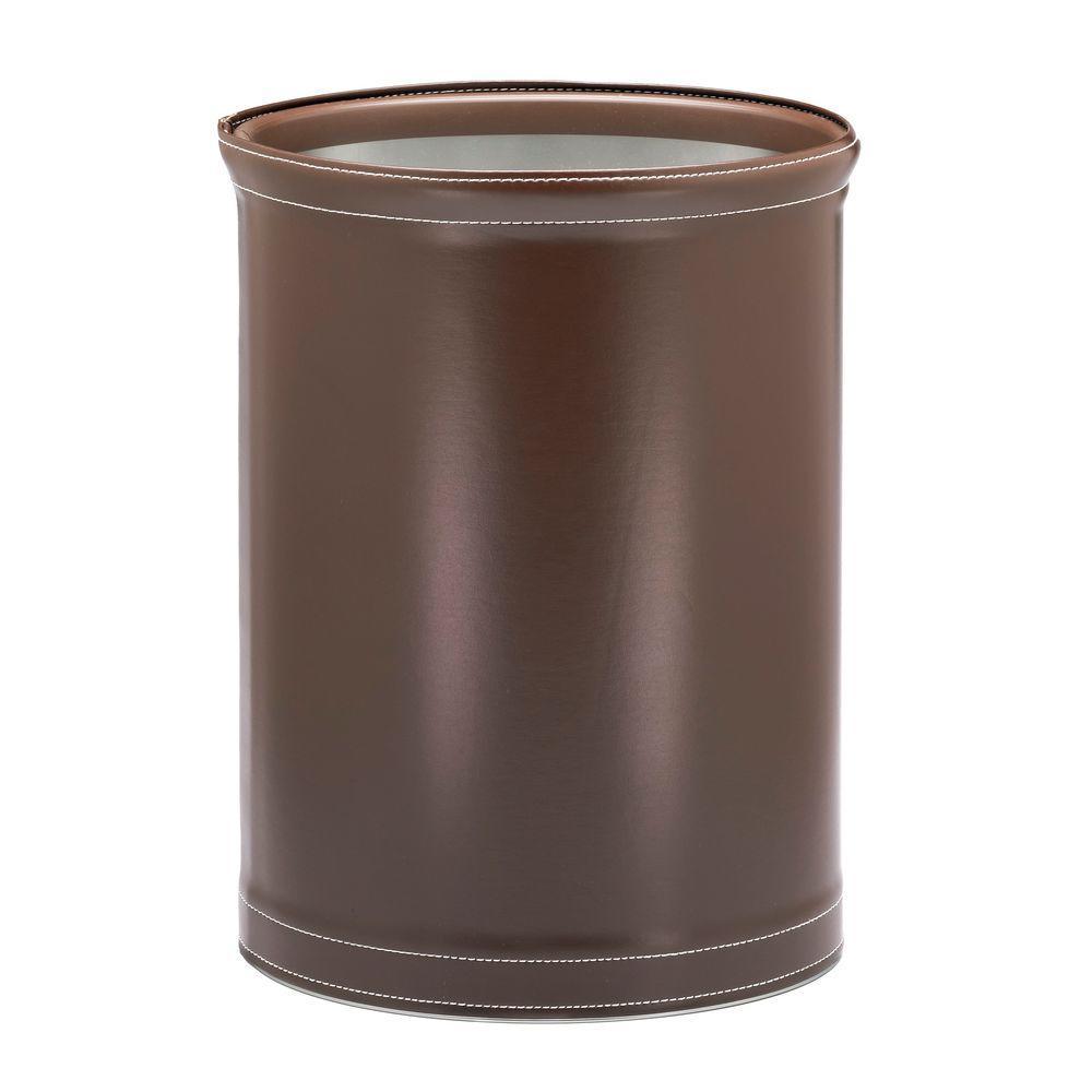 Stitch Chocolate 13 Qt. Oval Waste Basket