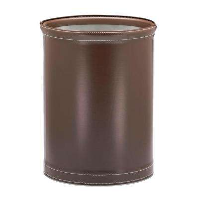 Stitch Chocolate 13 Qt. Oval Waste Basket