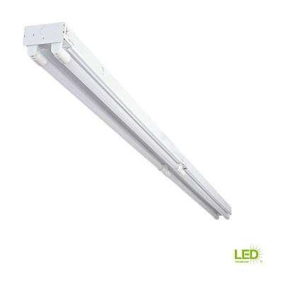 8 ft. 4-Light T8 Industrial LED White Strip Light with 1800 Lumen DLC Flex Tubes 4000K