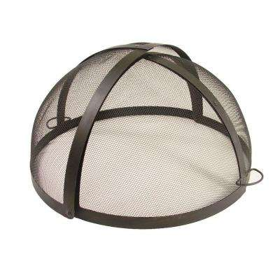 24 in. Fire Pit Folding Spark Screen