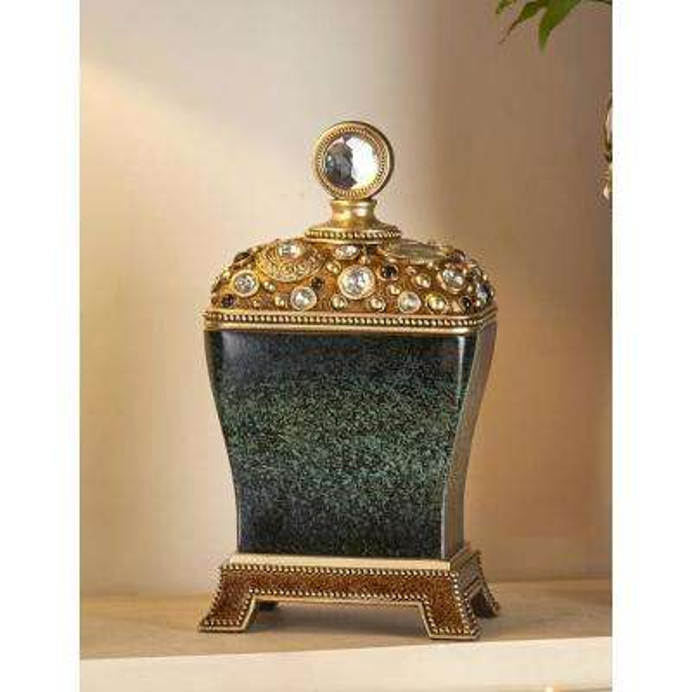 Sedona Marbelized Green Decorative Jewelry Box
