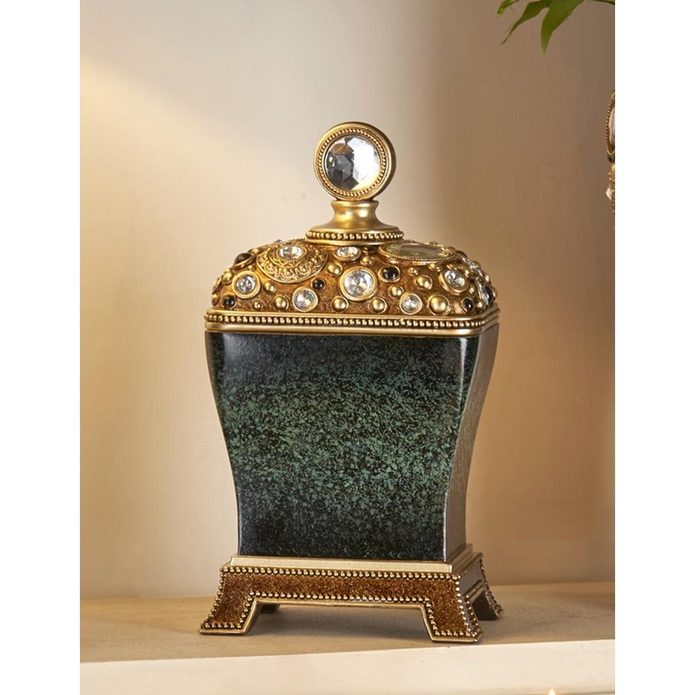 14-Inch Height ORE International K-4266JX Stellaire Jewelry Box Black