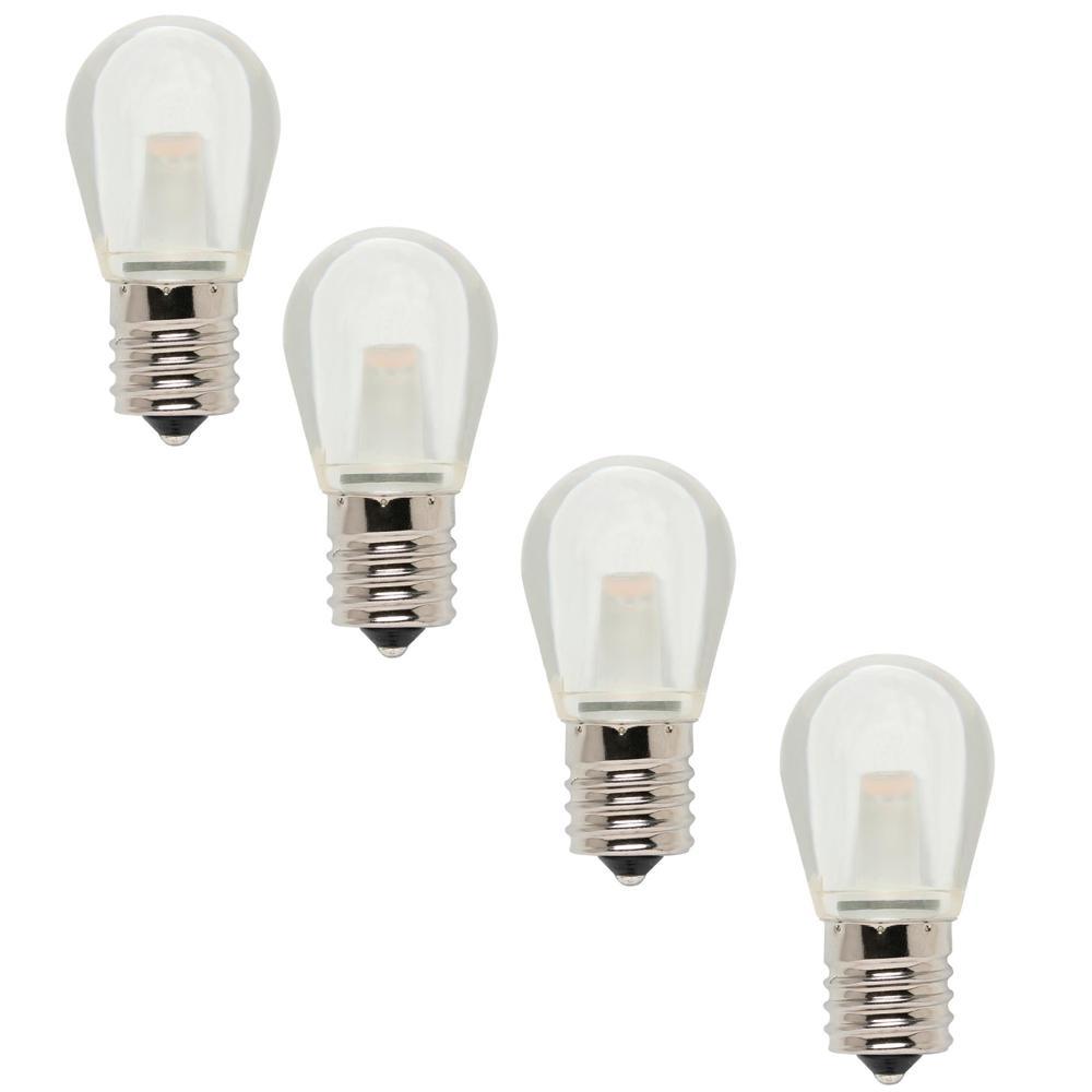 10-Watt Equivalent S11 LED Light Bulb Soft White (4-Pack)