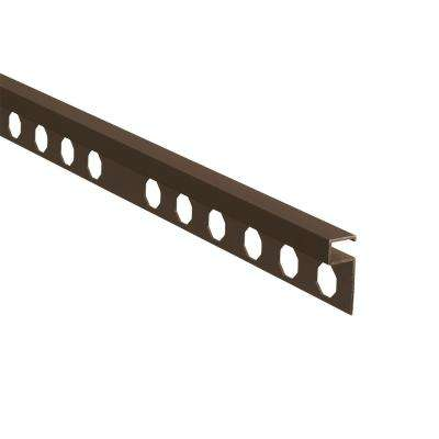 Novolistel 3 Matt Copper 3/8 in. x 98-1/2 in. Aluminum Tile Edging Trim