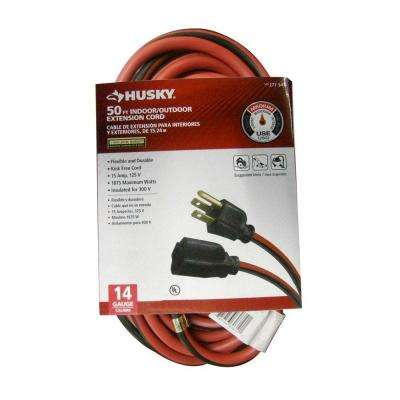 50 ft. 14/3 Indoor/Outdoor Extension Cord, Red and Black