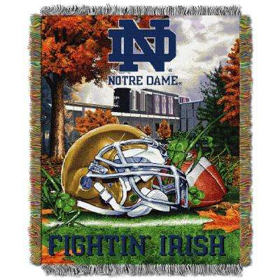 Notre Dame Multi Color Tapestry Throw HFA