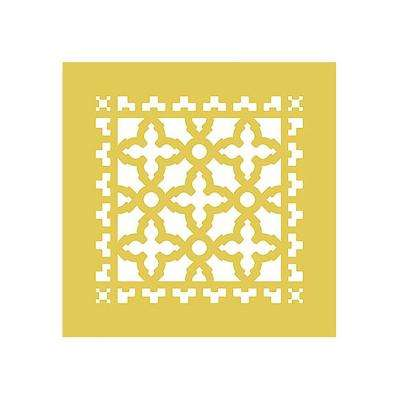 Scroll Series 8 in. x 8 in. Brass Grille, Brass without Mounting Holes