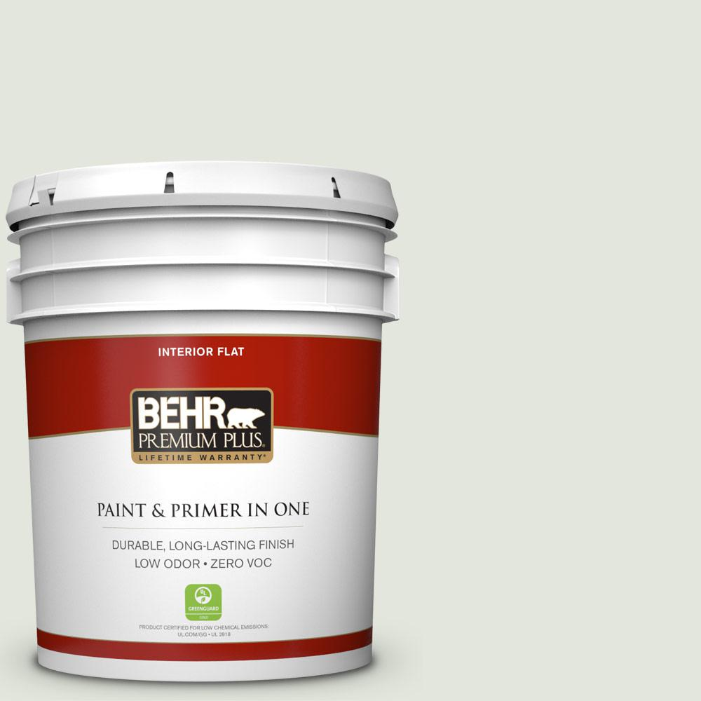 BEHR Premium Plus 5-gal. #BL-W6 Whispering Waterfall Flat Interior Paint