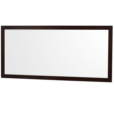 Sheffield 70 in. W x 33 in. H Framed Rectangular Bathroom Vanity Mirror in Espresso